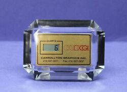 ⏲ Small Clock Quartz Digital LCD Home Office Table Desk Date Time Calendar NEW