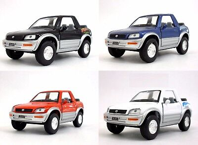 "4PC Set New 5"" Kinsmart Toyota Rav4 Cabriolet Diecast Model Toy Car Concept 1:32"