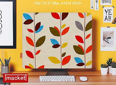 """Screen Cover / Dust Jacket - Apple iMac Desktop  21.5"""" - MACKET - Olive Leaf"""