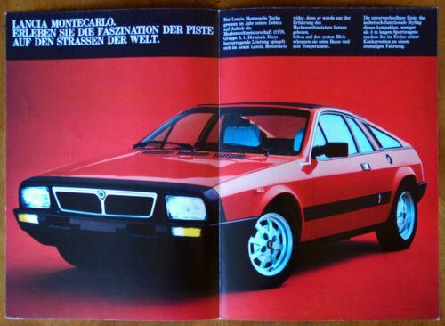 Lancia Montecarlo srs. 2 brochure Prospekt, 1980 (German text)