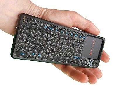 Bitzeasi® Mini Wireless Keyboard Touchpad 2.4G Backlit for Android Smart TV XBMC for sale  Shipping to Ireland