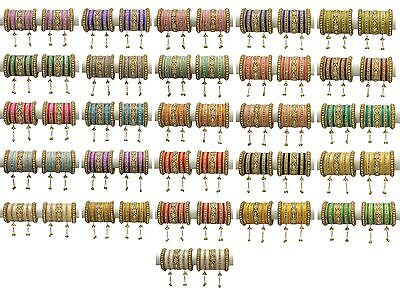 Indian Bollywood Costume Kundan Style bangles bracelet Wedding Wear Jewelry