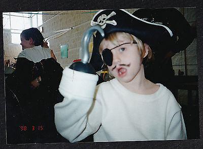 Vintage Photograph Adorable Little Boy in Pirate Costume - Halloween (Little Boy Pirate Costume)