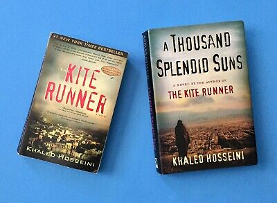 Khaled Hosseini Book Lot The Kite Runner And A Thousand Splendid Suns Novel