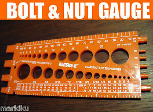 New-orange-Bolt-amp-Nut-Measuring-gauge-American-US-Metric-thread-pitch-mm-Inches