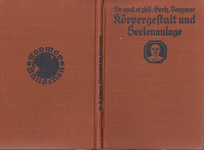 KOSMOS - BÄNDCHEN 1930/4   VENZMER : KÖRPERGESTAALT UND SEELENANLAGE   a