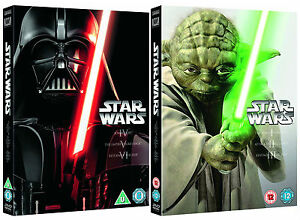 STAR WARS COMPLETE MOVIE COLLECTION EPISODE I - VI DVD BOX SET 6 DISCS R4