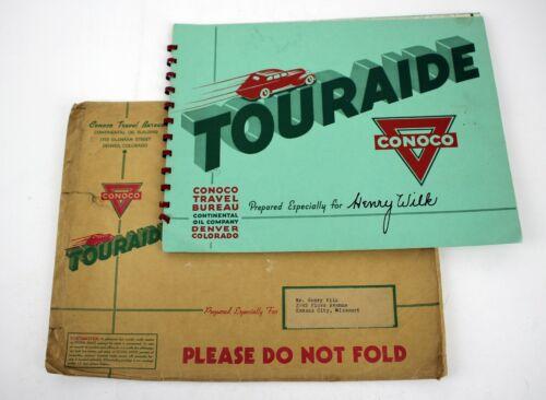 1941 CONOCO Touraide Continental Oil Co. Travel Maps U.S. Kansas Colorado Trips