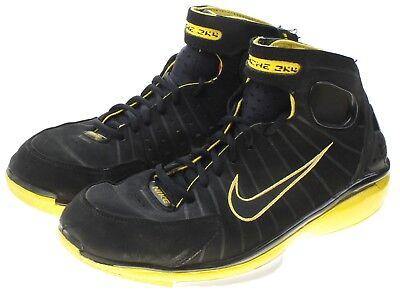 Nike Zoom Huarache 2K4 Mens Black Yellow Sneakers Size 8.5 511425-007