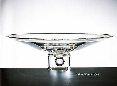 "NEW in BOX STEUBEN art glass MASSIVE HARMONY BOWL 15"" crystal ornament rose vase"