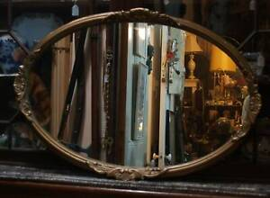 Gilt frame Oval Mirror , other vintage  and antique items Martin Gosnells Area Preview
