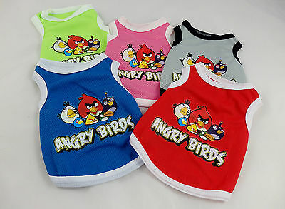 Angry Birds breathable mesh tank style vest for small dogs,pet clothes, t-shirts Fashion Pet Tank