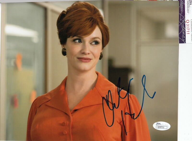 Christina Hendricks signed autographed Mad Men 8x10 photo JSA Authentic Q30711