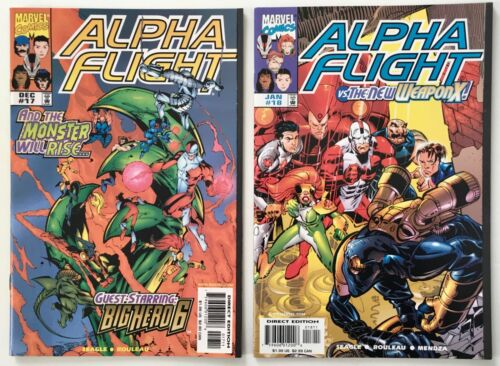 Alpha Flight #s 17 and 18 - 1st App. of Big Hero 6 - Lot of 2 Marvel Comics 1998