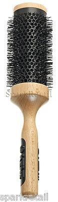 Kent LARGE Radial CERAMIC Hair BRUSH Round Wooden Blow Drying Hairbrush PF13