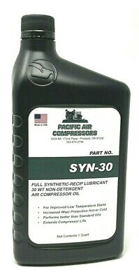 Air Compressor Oil Non Detergent Synthetic Oil For Piston Compressors One Quart