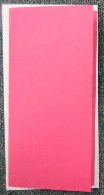 Dl-single (5 DL Single Fold, No Aperture Craft Cards & Envelopes - 10 x 21 cm - Dark Pink)