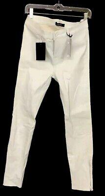 J Brand Pants White Leather Leggings Zipper Ankle Nwt Size 31