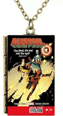 Deadpool Necklace Pendant Jewelry SUPER HERO Cartoon Japan Book Comic Gift FREE