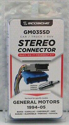 Scosche GM035 Car / Truck / SUV Stereo Connector Car Stereo Installations SEALED Scosche Car Stereo Connectors