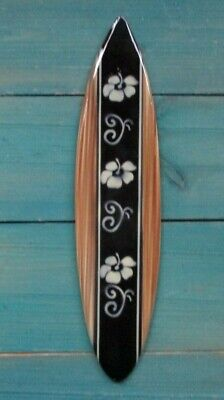 Hibiscus Flower tiki Hawaiian style Surfboard Tropical beach home airbrushed ](Hawaiian Home Decor)
