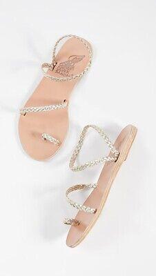 Ancient Greek Sandals Women's Eleftheria, Slide Sandals-Platinum EUR 38, US 8M.