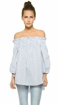 Caroline Constas Lou Blouse Striped Off The Shoulder Size Medium