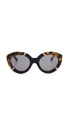 Karen Walker Flowerpatch Cat Eye Sunglasses Tortoiseshell Black Crazy Tort BNWT