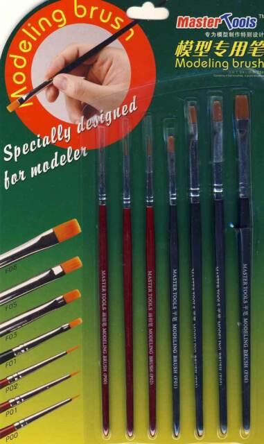 Trumpeter Brush Set for details Surfaces Paint Dry Brush Modeling Brush Set