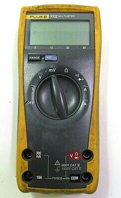Fluke 77 Iii Digital Multimeter - As-is -free Shipping-