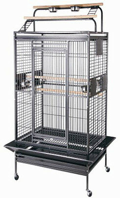 Large Bird Parrot PlayTop Cage Cockatiel Macaw Conure Aviary Pet Supply Finch327