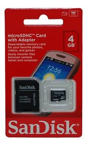 Lot of 10 SanDisk 4GB 4G MicroSD SDHC TF Flash Memory Card New Retail Package