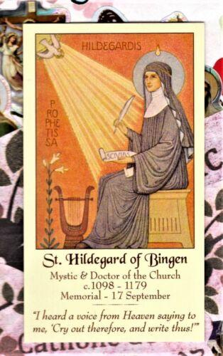 "St. Saint Hildegard of Bingen (2"" x 3 1/2"") Heavy Paperstock Holy Card"