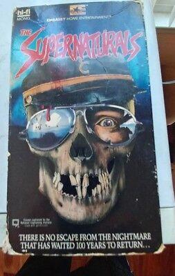 THE SUPERNATURALS VHS 😈HOLLOWEEN HORROR~EMBASSY TESTED