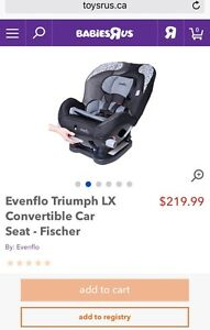 Evenflo car seat brand new sealed in box