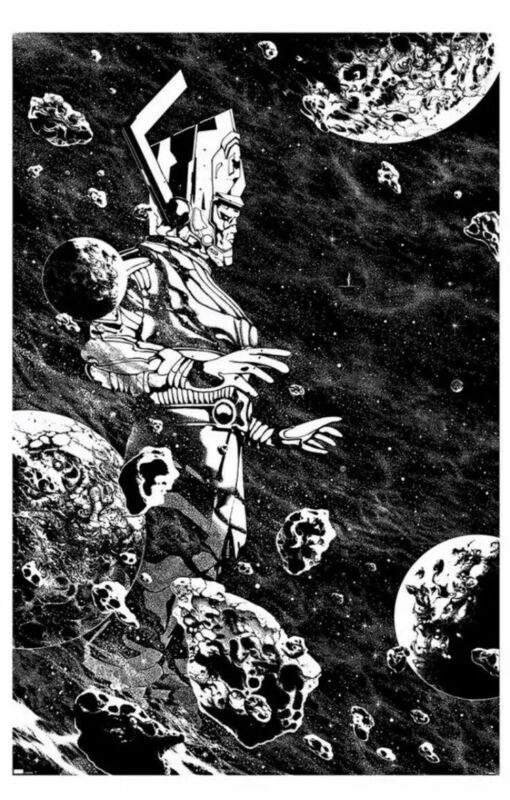 Galactus Poster Print Mondo Killian Eng BW Variant Edition Silver Surfer (11/25)