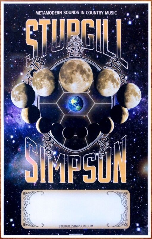 STURGILL SIMPSON Metamodern Sounds in Country Music Ltd Ed RARE Poster!
