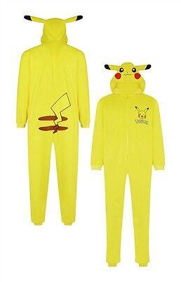 Primark Pokemon Pikachu Men's Unisex Onesey Sleepsuit Yellow (XL-XXL) Costume