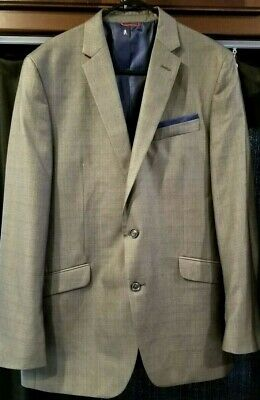 Billy London Uk Silver Mens Blazer Suit Coat Jacket 42L Very Nice Fabric and Cut ()