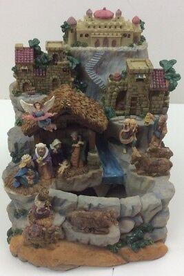 Fingerhut Lighted Musical Nativity Scene Fountain W  Submersible Pump
