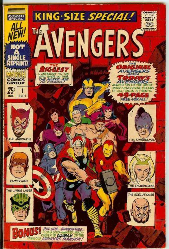 AVENGERS ANNUAL #1 7.0