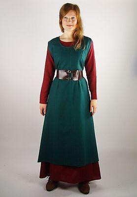 Überkleid grün Mittelalter Gewandung Kostüm Kleid S M L XL XXL XXXL bäuerlich ()