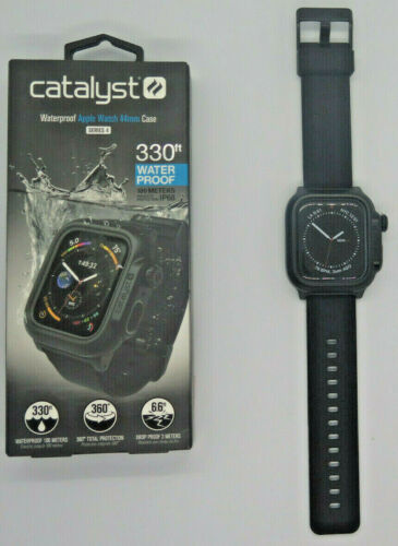 Catalyst Protective Waterproof Case for Apple Watch 44mm - Stealth Black
