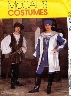 Mccall's Herren Renaissance Kostüm Muster 2802 Größe S-M (Renaissance Herren Kostüm Muster)