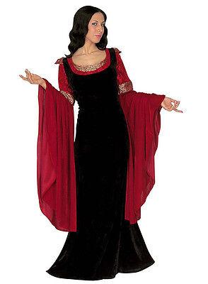 Damen Mittelalter Prinzessin Kostüm Luxus Kostüm Thron Outfit NEU 14-16-18