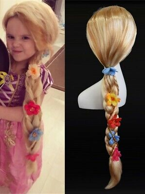Long Rapunzel Wig (Us stock Princess Rapunzel Wigs Cosplay Wig  Synthetic hair Child wigs)