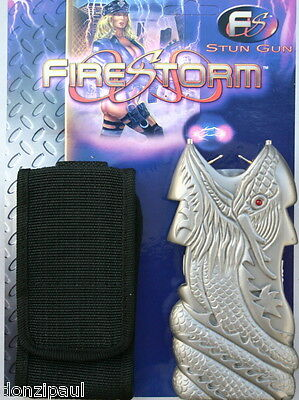 Firestorm 1,000,000 Volt Stun Gun with Holster Pewter Dragon