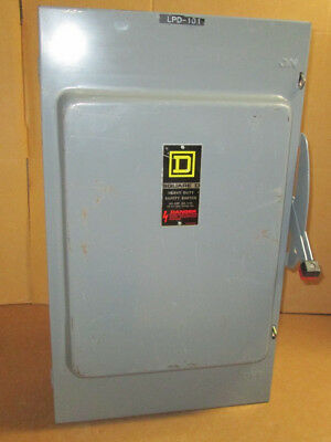 Square D 200 Amp Safety Switch Cat H364n 600 Vac 3 Pole Fusible Disconnect