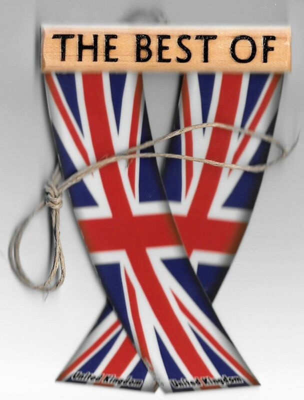 Rear view mirror mini car flags British UK unity flagz for inside the car