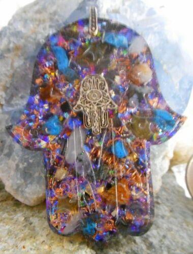 Orgone Pendant Experience Powerful Crystal Healing - Hamsa